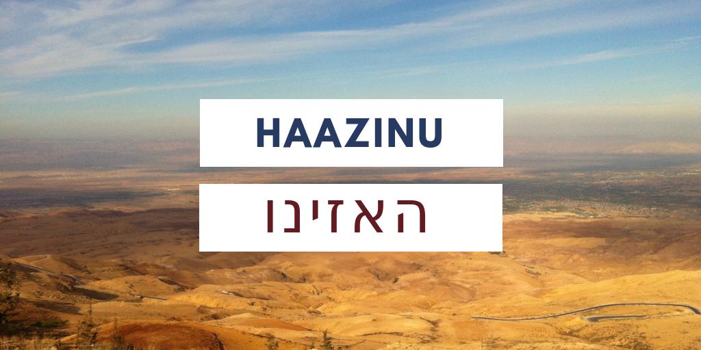 Paraszat Haazinu