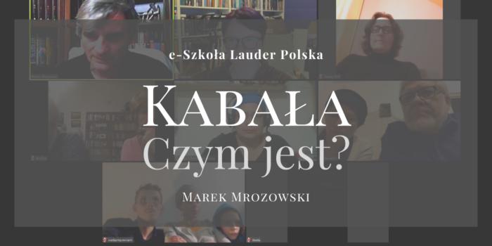 Wykład Marka Mrozowskiego o Kabale